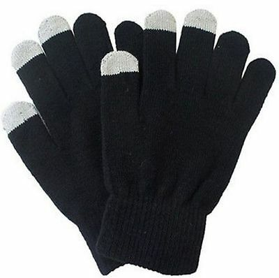 "1x Pair Full Finger ""BAD BLACK"" Touch Wool Gloves Fashion Warm (A2)= BAD BOYZ SA"