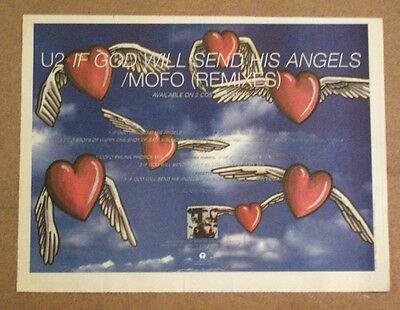 U2 - If God Will Send His Angels - 1997 A3 Music Advert Poster Size 16 X 11