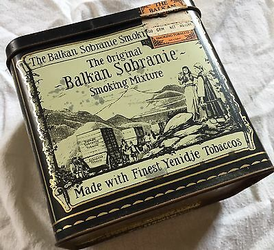 1879 Balkan Sobranie Finest Yenidje Tobacco Vintage cigarette Advertising tin