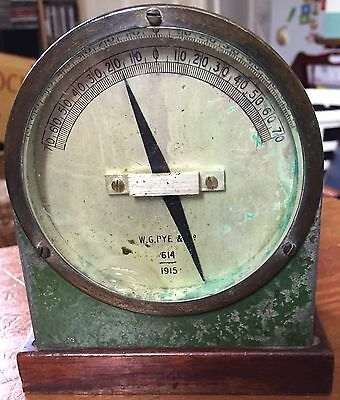 Authentic WW1 1914 Pye Galvanometer Blasting Tester Railway Mining Army Military