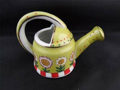 Regal Bone China Miniature Watering Can with a Flowers Design.