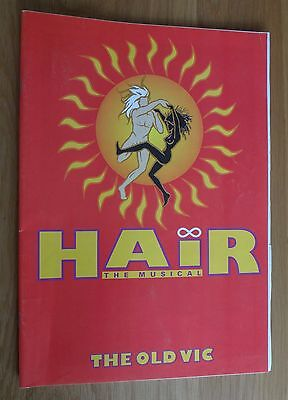 Theatre programme 'HAIR' The Musical 1993 at The Old Vic