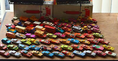 72 matchbox superfast cars -70-80`s,all from from good to VGC,in two carry cases