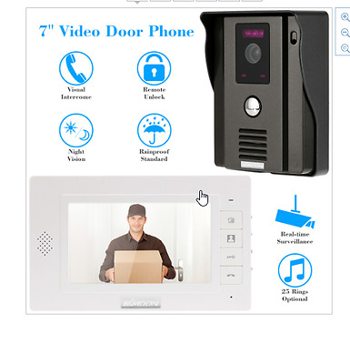 "New Door Intercom Wireless KKmoon 7"" TFT LCD Screen Video Door Phone Intercome"