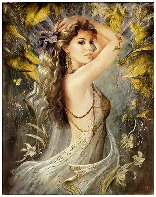 AUTUMN PRINCESS FULL DIAMOND PAINTING KIT 5D CROSS STITCH MOSAICS 25x20CM