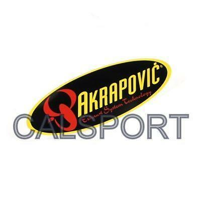 GENUINE AKRAPOVIC 204x60 HEAT PROOF RESISTANT OVAL EXHAUST STICKER DECAL