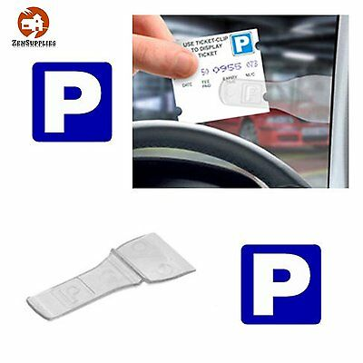 Parking Ticket Holder Permit Pass Holder Clip (3 Pack) For Car Windscreen Stay