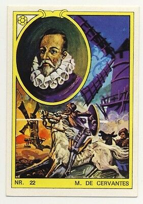 Miguel de Cervantes Don Quichotte  ANNEES 70s IMAGES AUTOCOLLANT STICKERS