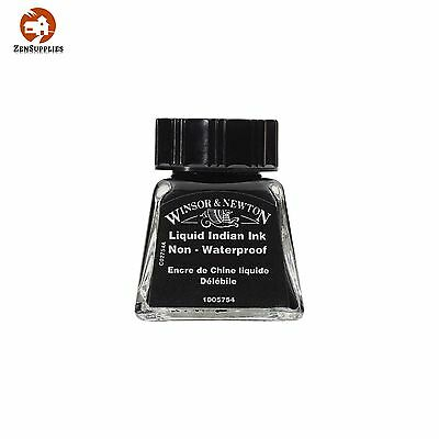 Winsor Newton Drawing Ink Bottle 14 ml Liquid Indian Ink Quick Dry Drawing Ink