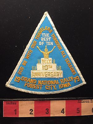 WIT Grand National Rally Forest City Iowa Patch Native American Indian Cake 68U9