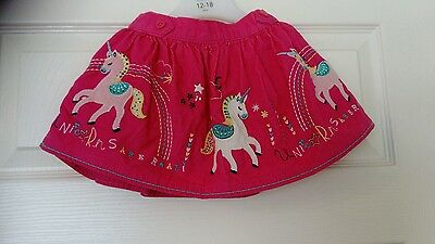 baby girls pink unicorn skirt age 9-12 months bnwt
