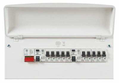 MK 16 Way Consumer Unit 2x63A RCD 10 Off MCBS 100A