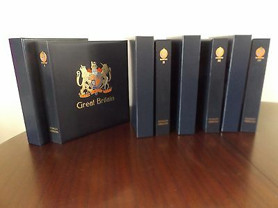 Gb Mnh Umm Stamp Collection In 4 Davo Luxury Albums With Slipcases Qv-Qeii