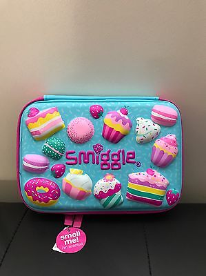 Smiggle Blue Scented Kooky Hardtop pencil case - brand new with a tag