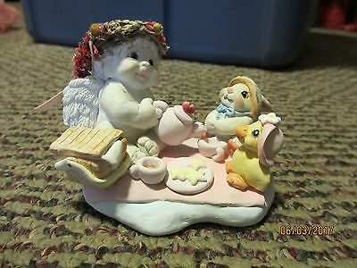 Dreamsicles Angel Cherub #dc015 Tea Party Signed By Kristin