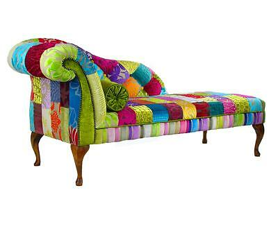 Bespoke Patchwork Chaise Longue Chair Sofa Designers Guild fabric