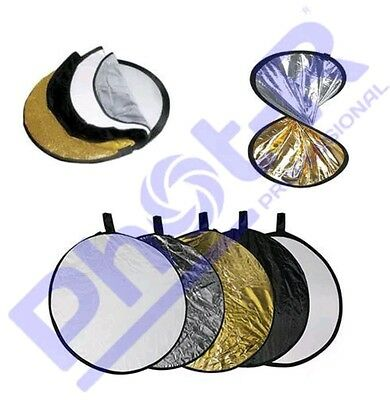 phot-r 32in collapsible circle reflector 5-in-1