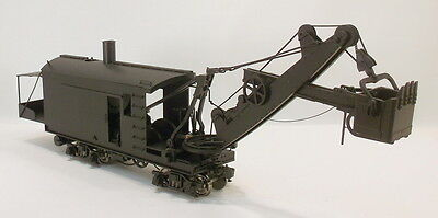 On3 BRASS CAR WORKS MARION MODEL 40 RAIL MOUNTED STEAM SHOVEL FACTORY PAINTED