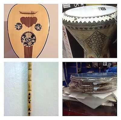 Economy Deal Package of Oud + Darbuka + Ney + Riq + Oud bag Egyptian instrument