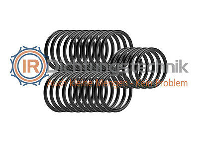 O-Ring Nullring Rundring 7,5 x 1,8 mm NBR 70 Shore A schwarz (25 St.)