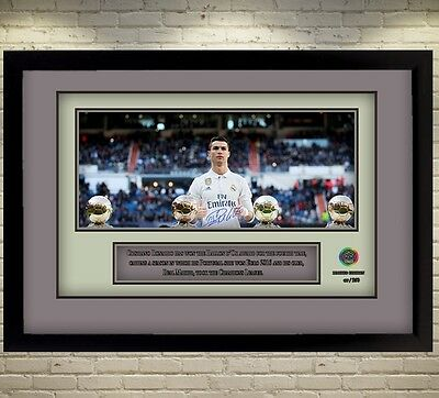 Cristiano Ronaldo signed autograph Real Madrid star Memorabilia With Frame 0020