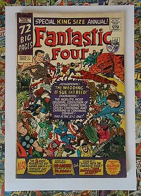 Fantastic Four Annual #3 - Oct 1965 - The Wedding Of Sue & Reed! - Fn (6.0)