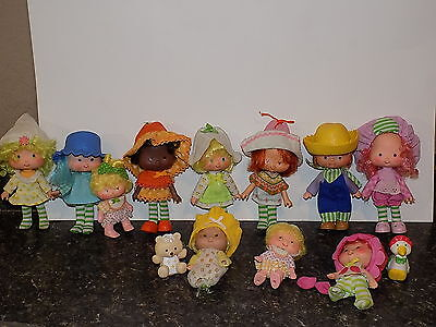 Vintage Lot Of Strawberry Shortcake Dolls some pets