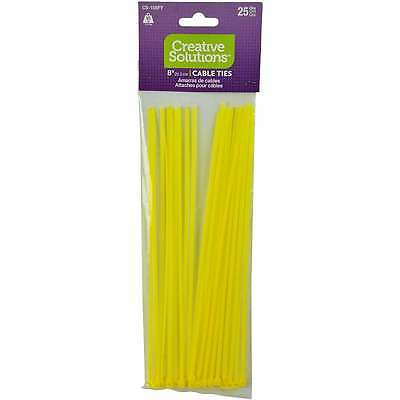 """Cable Ties 8"""" 25/Pkg Fluorescent Yellow 032076925451"""