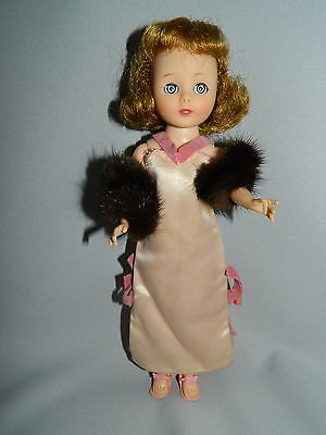Vintage American Character Toni-Original Dress With Genuine Mink Stole.