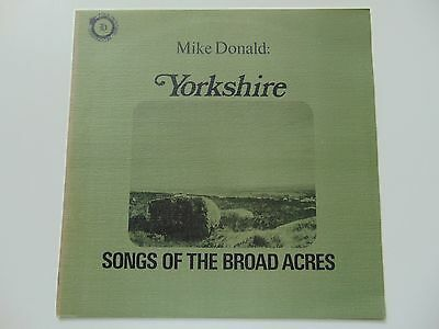 1st Press Folk Heritage LP Mike Donald Songs Of The Broad Acres 1971 NEAR MINT