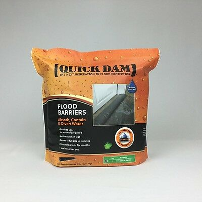 Quick Dam 6 Inch X 17 Ft Expanding Barrier Reusable Non toxic Flood Barriers New