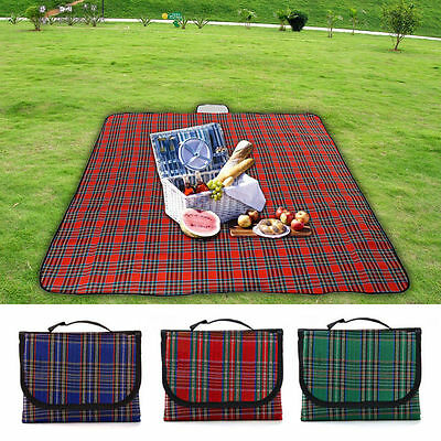 Extra Large 200x150cm Waterproof Picnic Rug Travel Outdoor Beach Camping Mat