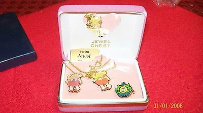 Cabbage Patch Kids Fine Jewelry Boxed Necklace Set Very Hard To Find.