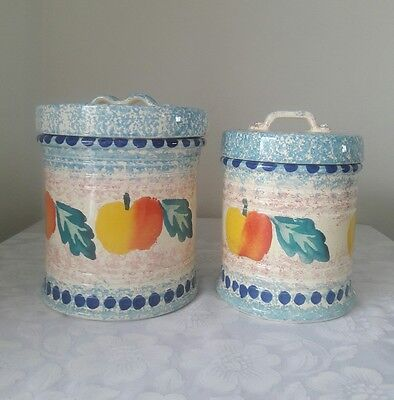 Bellini Piu Large/small Porcelain Canister Set,  Made In Italy