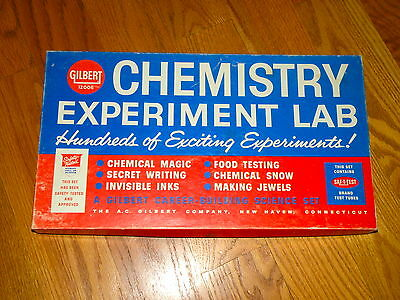 Vtg Gilbert Chemistry Experiment Lab in Box w/ Science Leads the Way Comic Book