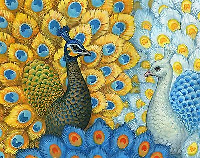 Grafitec Printed Tapestry Needlepoint Canvas - Exotic Peacocks