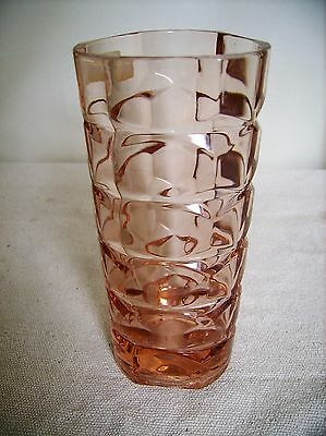 Vintage Art Deco  Vase in Peachy Pink