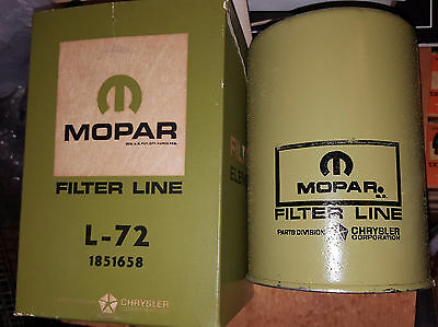 Vintage Mopar L-72 1851658 Oil Filter NOS IN BOX Ultra RARE! Hemi Cuda