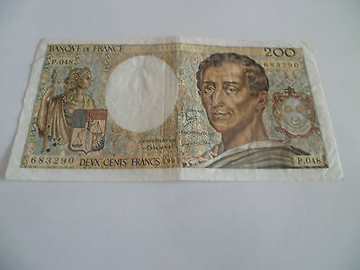 FRANCE : joli billet  200 francs 1987