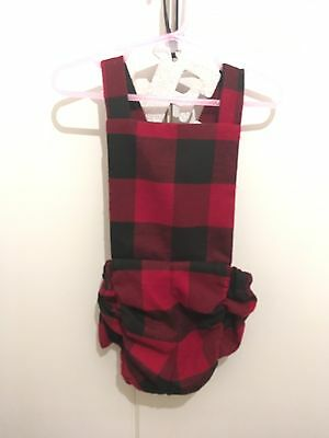 Metallimonsters Baby Boy Girl Red Black Romper Alternative 6 Months Summer