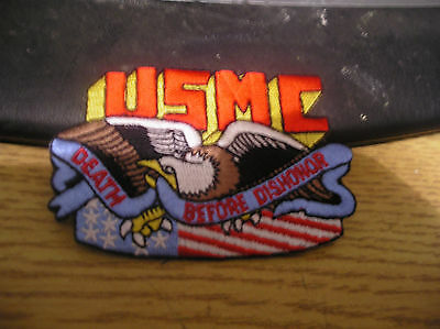 USMC Marine Corps Death Before Dishonor  Patch DS OIF OEF GWOT