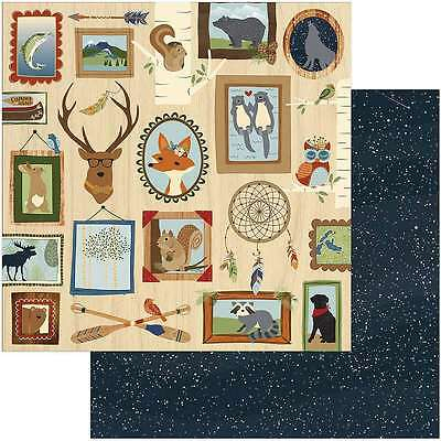 """Campfire Double-Sided Cardstock 12""""X12"""" Lodge Wall 814948025083"""