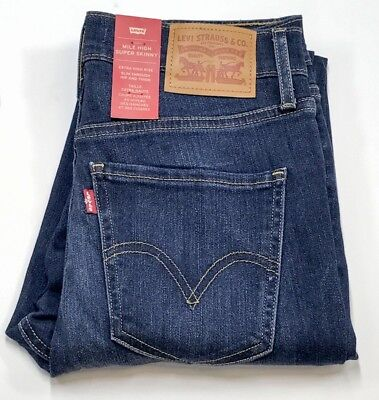 Levi's Ladies Mile High Super Skinny Blue Jeans