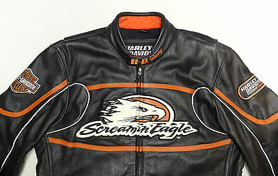 Harley Davidson Screamin Eagle Leather Jacket Raceway 98226-06Vm Large *nice  93