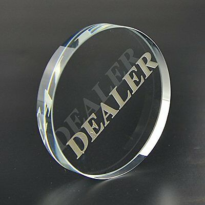 Transparent Dealer Poker Buttons Great Tournaments Professional Look Feel New