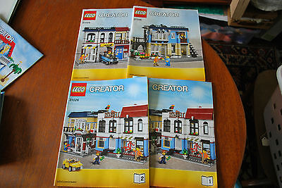 Lego Instruction Booklets 31026 Creator Bike Shop And Cafe