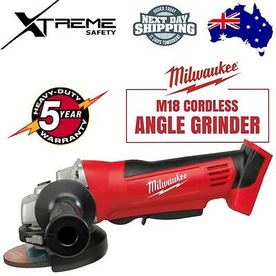 Milwaukee M18 Cordless 18v Lithium Ion Angle Grinder Heavy Duty 125mm SKIN ONLY