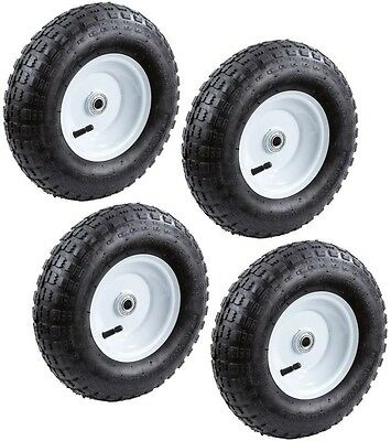 Farm and Ranch 13 in. Pneumatic Tire Hand Truck Card Dolly Wagon Wheels (4-Pack)