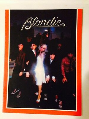 Blondie-1979-Parallel Lines-Concert Program Tour Book-Debbie Harry