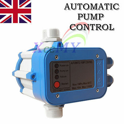 Automatic Water Pump Pressure Controller Auto Control Unit Electronic Switch UK